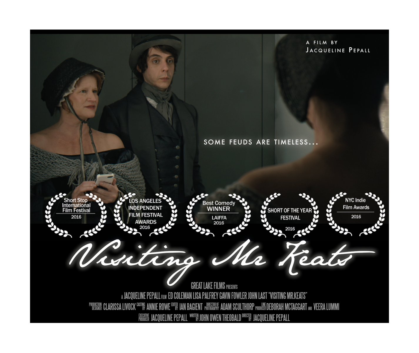 'Visiting Mr Keats' wins Best Comedy at the Los Angeles Independent Film Festival Awards